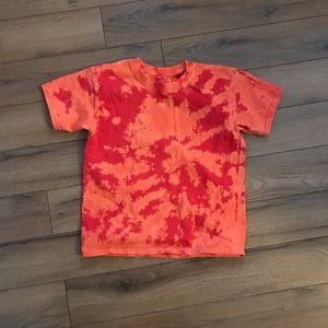 3/$30- NWOT Bleach Dyed Spiral Red T-Shirt